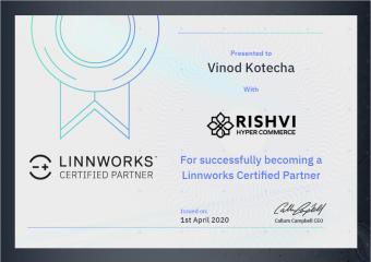 Linnworks Partner Certificate